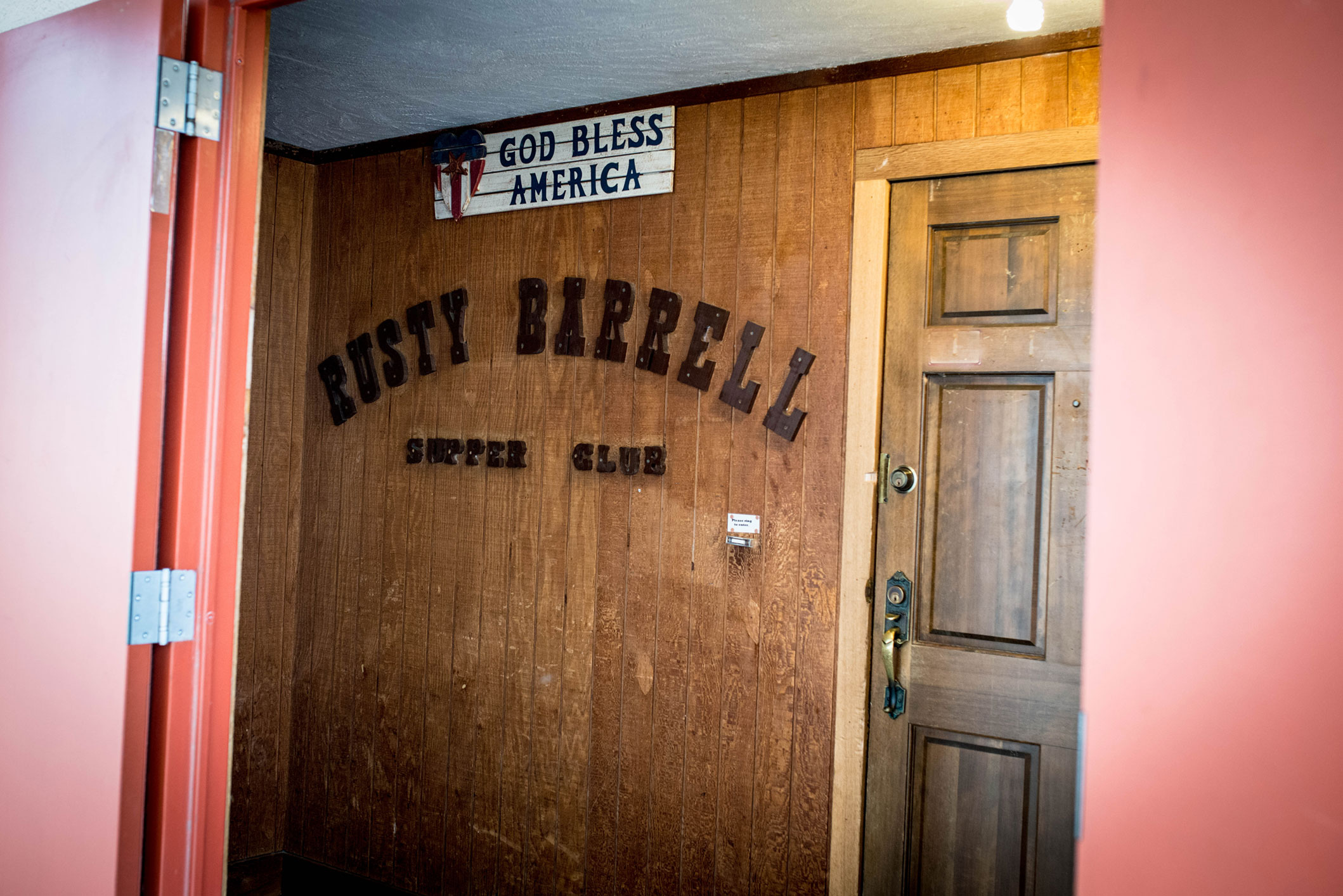 ... in 1985 but the door bell and Orange door tradition continues to this day. So come by and ring the bell and join us at the Rusty Barrell Supper Club! & Rusty Barrell Supper Club | Best Little Steak House in Oklahoma